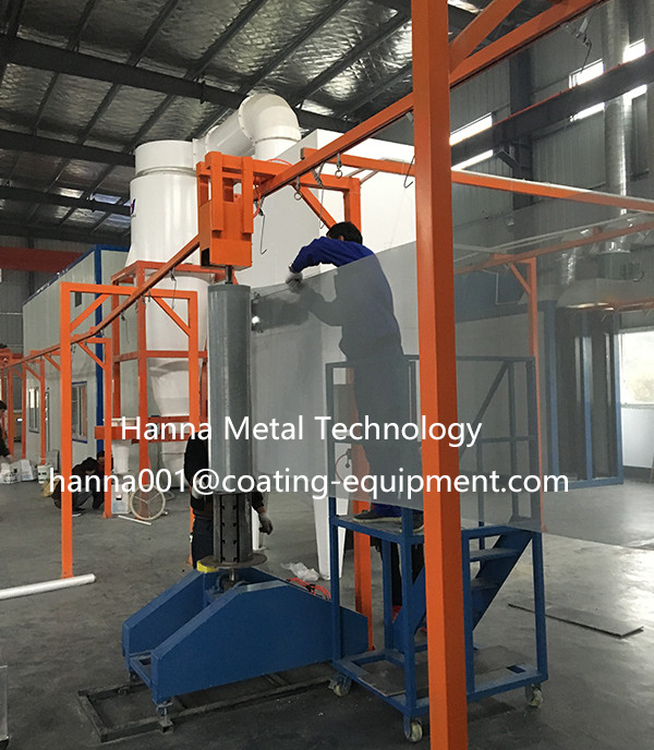 wire mesh spray coating equipment