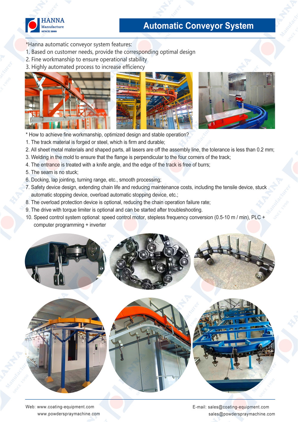 Automatic conveyor system