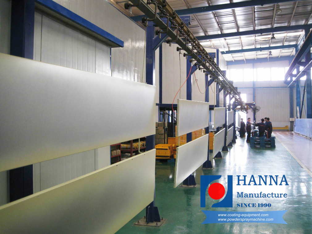 Furniture powder coating line