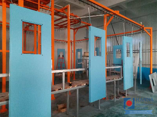 Tricycle & Security Door Powder Coating Line